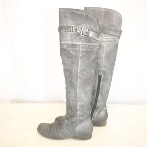 Steve Madden Women's 6.5 EU 37 Boots Leather Gray